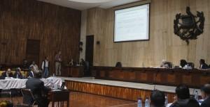 Patrick Ball testifying in trial of Gen. Ríos Montt / BEA GALLARDO SHAUL